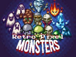 Retro Pixel Monsters