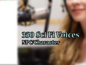 350 Sci-fi NPC Voices