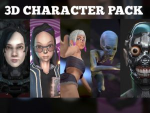 3D Character Pack (4 characters) LuciSoft