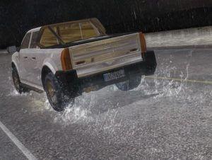 Car Water Spray Trails