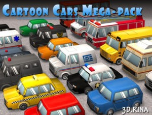 Cartoon Cars Mega-Pack