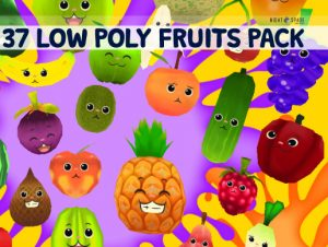 Fruit With Faces 3D Pack