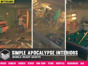 Simple Apocalypse Interiors – Cartoon Assets
