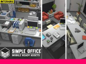 Simple Office Interiors – Cartoon assets