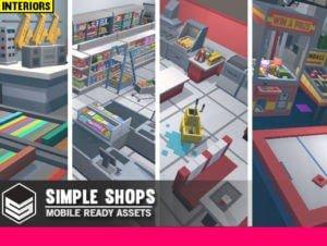 Simple Shops Interiors – Cartoon assets