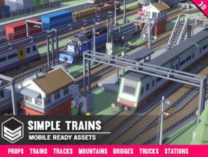 Simple Trains – Cartoon Assets