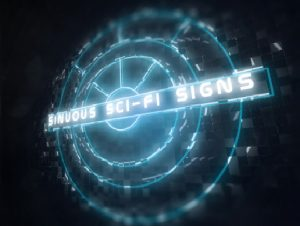Sinuous Sci-Fi Signs