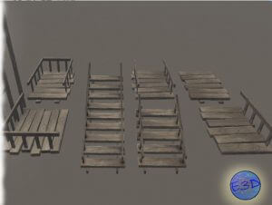 Stairs and Floor Wood Pack
