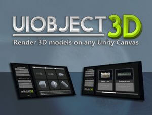 UIObject3D: Render 3D Models on any Unity UI Canvas