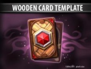 Wooden Card Template