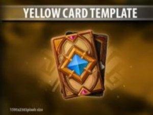 Yellow Card Template