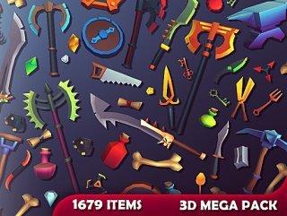 3D Items – Mega Pack