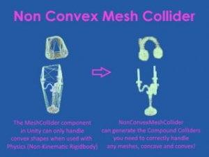 Non Convex Mesh Collider