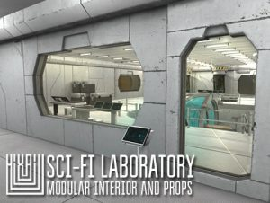 Sci-fi laboratory – modular interior and props