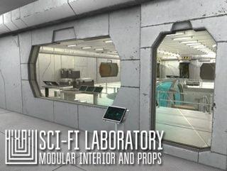 Sci-fi laboratory – modular interior and props