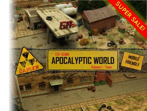 Top-Down Apocalyptic World Volume 1 – Town