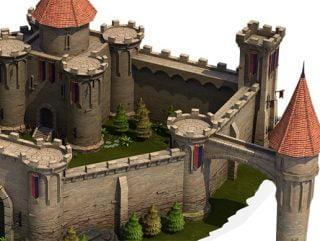 Top-Down Medieval Castle
