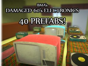 Damaged 60's Electronics (40 Prefabs)