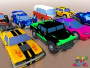 Low poly cartoon cars pack