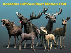 forest-animal-deer-moose-family-pack