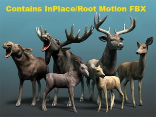 Forest Animal – Deer & Moose Family Pack
