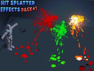 Hit Splatter Effects Pack 1