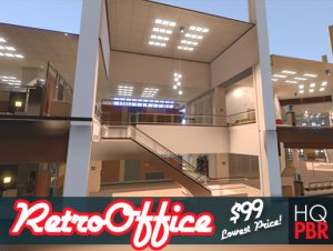 HQ PBR Retro Office Environment