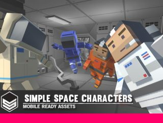 Simple Space Characters – Cartoon Assets