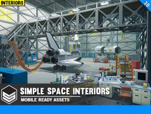Simple Space Interiors – Cartoon Assets
