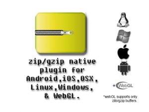 Zip / gzip Multiplatform Native Plugin