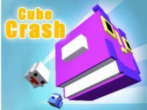 Fantasy 3D pixel cube crash
