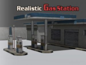 Realistic Gas Station