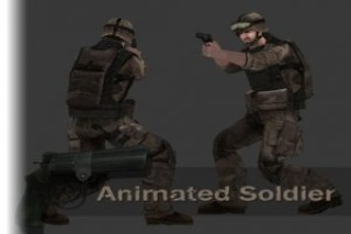 Animated Soldier (ver2.0)- Lowpoly