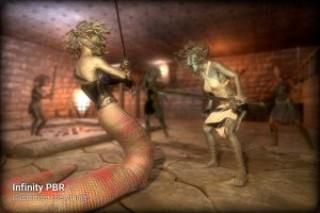 Medusa (Female) Human & Snake Mythology Pack PBR