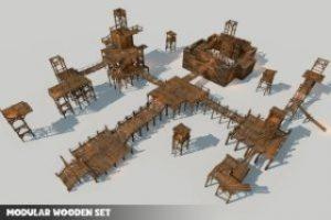 Modular Wooden Set