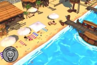Summer Beach Cartoon Pack – VR/Mobile