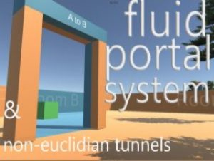 Fluid Portals System & Non-euclidian Tunnels