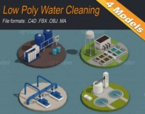 Low-Poly-Water-Cleaning-Isometric-3D-model
