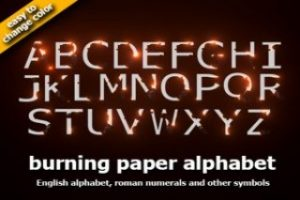 ZE Burning alphabet