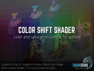 Color Shift shader (Hue, Saturation, Value) for Sprites & UI