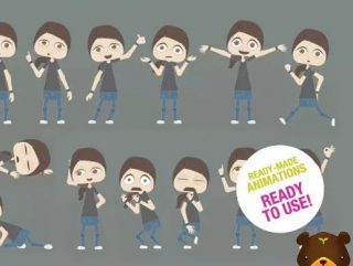 100 Daily Life   2D Puppet Animations   Unisex Minimal Vector Style