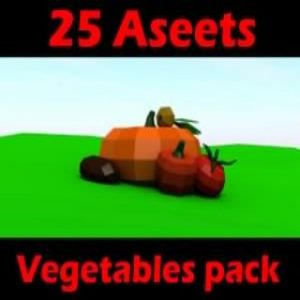 Read more about the article Fruit and vegetables low poly pack Low-poly 3D model