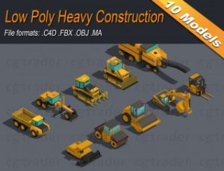 Read more about the article Low Poly Heavy Construction Machinery Equipment Industrial