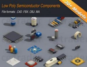 Read more about the article Low Poly Semiconductor Components Isometric Low-poly 3D model