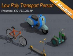 Low Poly Transport Person Isometric Low-poly 3D model
