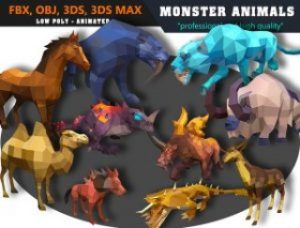 Animals-Monster-Cartoon-Collection-Animated