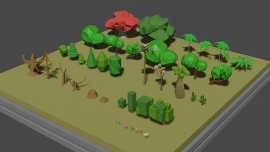 Read more about the article Low Poly Tree Collection – 40 Models