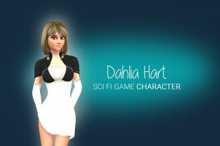 Read more about the article Dahlia Hart: Stylized Sci-Fi Character