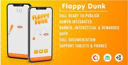 Read more about the article Flappy Dunk (Admob + GDPR + Unity)