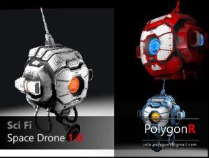 sci-fi-space-drone-polygonr